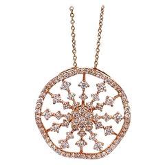 Ruchi New York Wavy Diamond Pendant