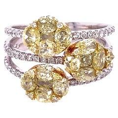 Ruchi New York Yellow and White Diamonds Ring