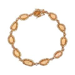 Ruchi New York Yellow Sapphire and Diamond Bracelet