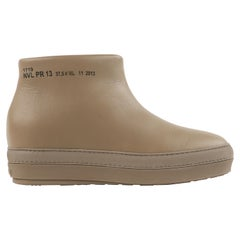 """RUCO LINE 2013 Jean Nouvel """"Pure"""" Militare Leather Industrial Ankle Boot NIB"""