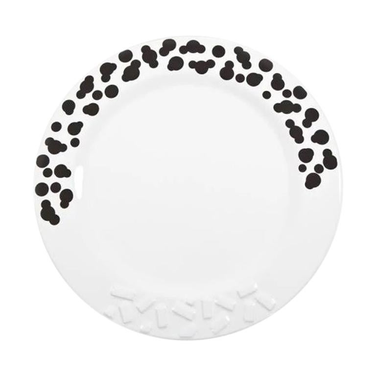 Rucola Ceramic Plate, by Ettore Sottsass from Memphis Milano For Sale