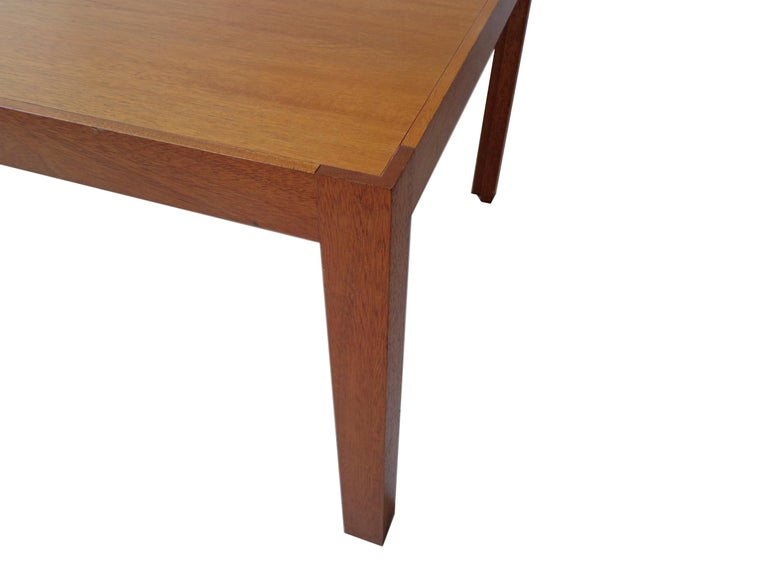 This coffee or sidetable, model Kongeserie is made in mahogany. Original and in very good condition. Rud Thygesen & Johnny Sørensen won in 1969 1st prize in a competition held by the Copenhagen Cabinetmakers' Guild. Then received King Frederik IX