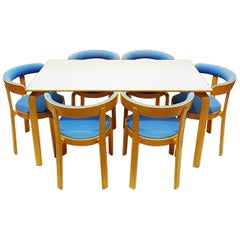 Rud Thygesen Danish Bentwood Compact Dining Set in the Style of Alvar Aalto
