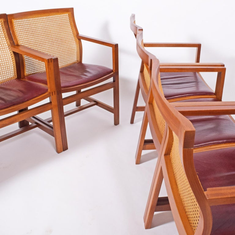Late 20th Century Rud Thygesen & Johnny Sorensen Six Armchairs for Botium For Sale