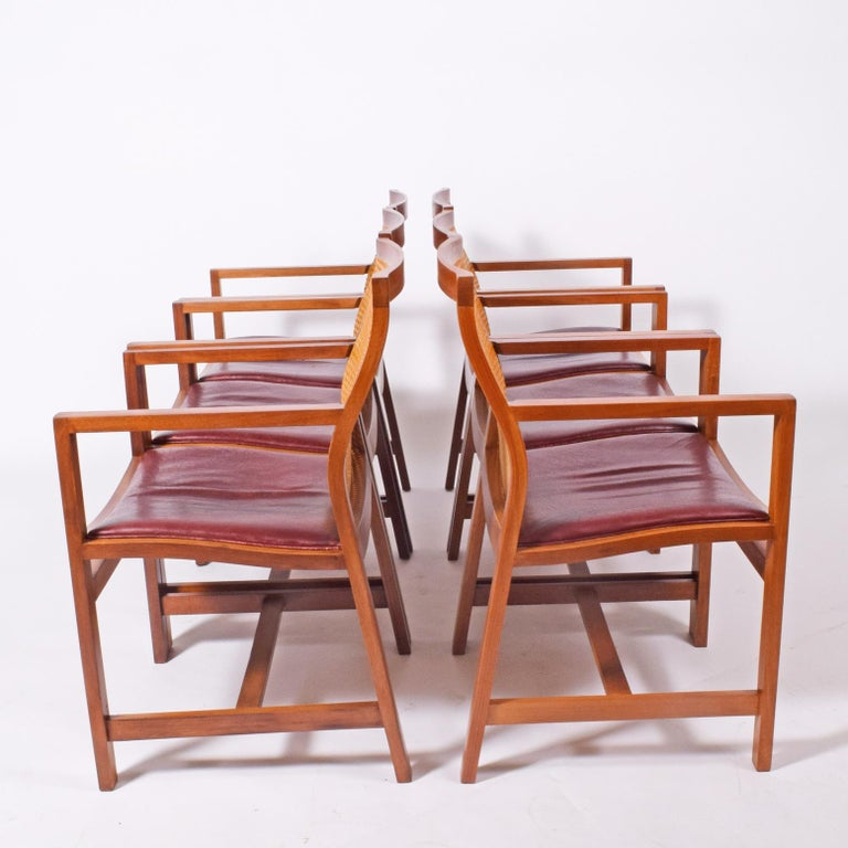 Leather Rud Thygesen & Johnny Sorensen Six Armchairs for Botium For Sale