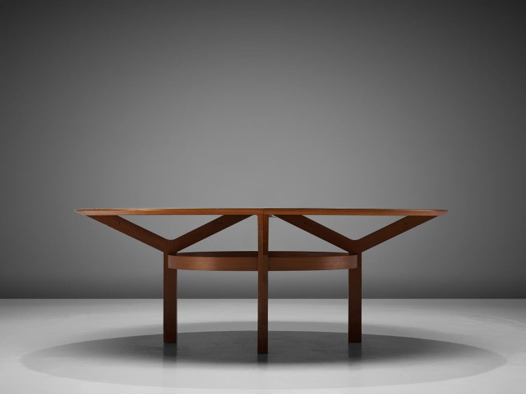 Rud Thygesen & Johnny Sørensen Large Conference Table in Teak For Sale 4