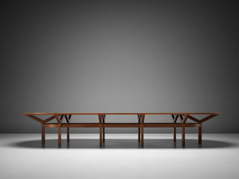 Mid-Century Modern Rud Thygesen & Johnny Sørensen Large Conference Table in Teak For Sale