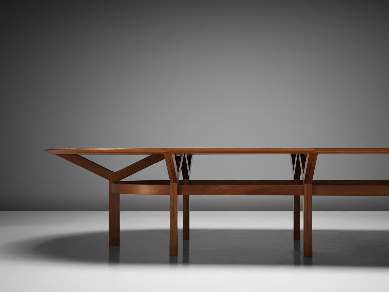 Danish Rud Thygesen & Johnny Sørensen Large Conference Table in Teak For Sale
