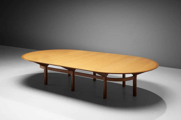 Rud Thygesen & Johnny Sørensen Large Conference Table in Teak For Sale 2