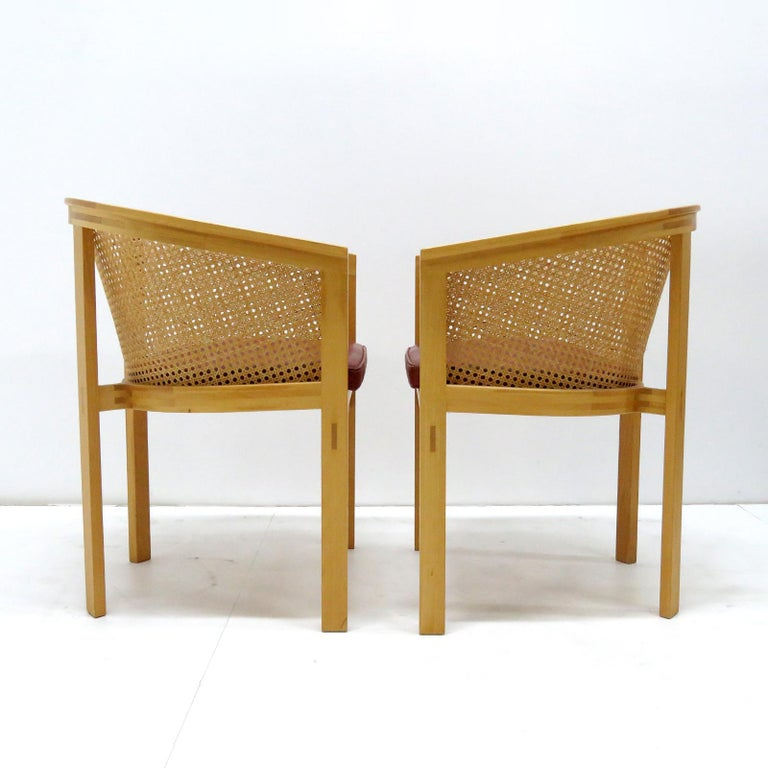 Rud Thygesen & Johnny Sørensen Model 7703 King Series Armchairs In Good Condition For Sale In Los Angeles, CA