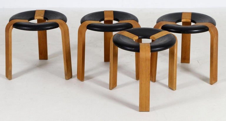 Scandinavian Modern Rud Thygesen & Johnny Sørensen Stools for Magnus Olesen For Sale