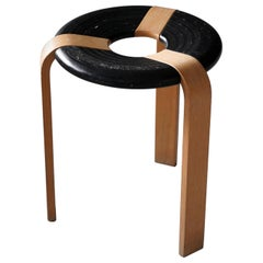 Rud Thygesen, Stool, Oak, Black Painted Oak, for Magnus Olsen, Denmark, 1971