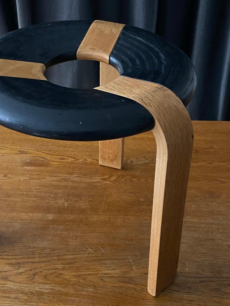 Rud Thygesen, Stools, Oak, Black Painted Oak, for Magnus Olsen, Denmark, 1971 For Sale 1