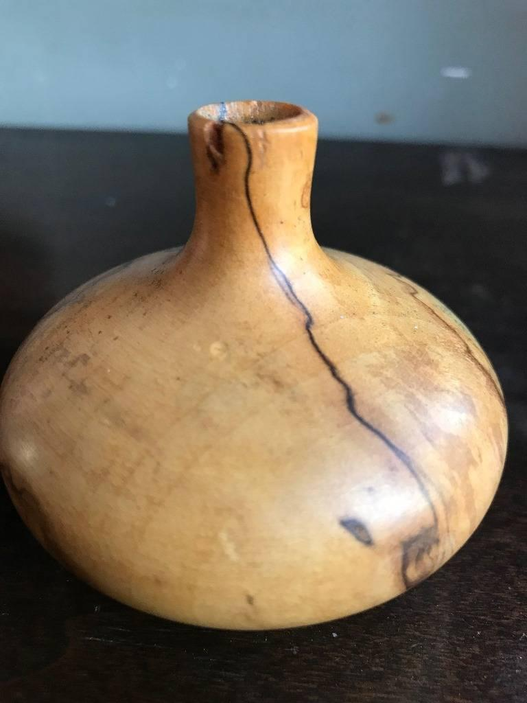 American Rude Osolnik Rare Pale Wood Turned Vessel / Vase For Sale