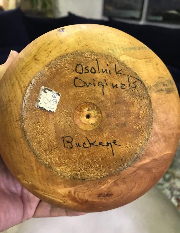 Rude Osolnik Signed Rare Large Pale Buckeye Wood Turned Vessel Bud Weed Vase 3