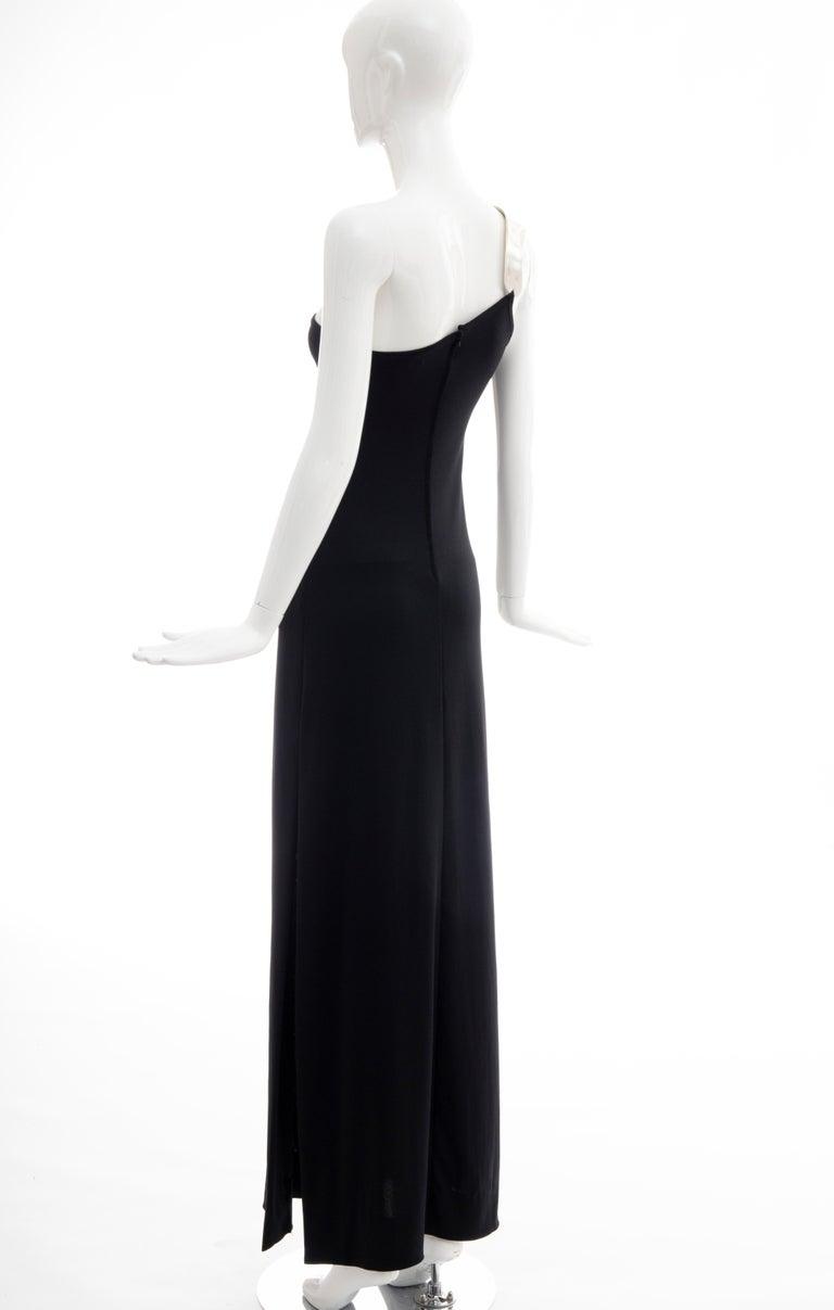 Rudi Gernreich Black Jersey Dress with Sculpted Aluminum Shoulder, Spring 1975 For Sale 5