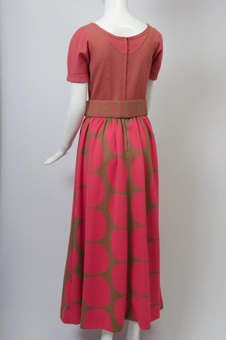 Red Rudi Gernreich Pink/Olive Knit Dress