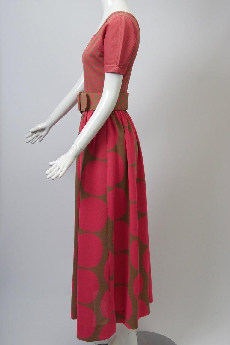 Women's Rudi Gernreich Pink/Olive Knit Dress