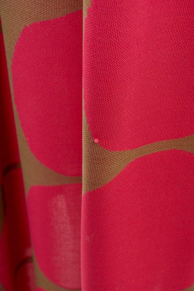 Rudi Gernreich Pink/Olive Knit Dress 2