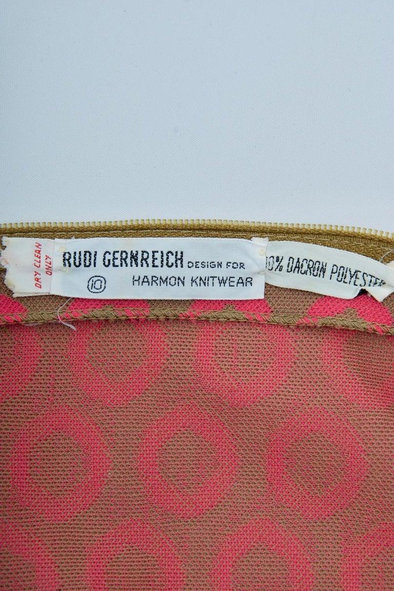 Rudi Gernreich Pink/Olive Knit Dress 4