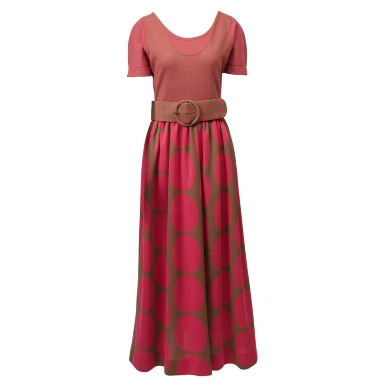 Rudi Gernreich Pink/Olive Knit Dress