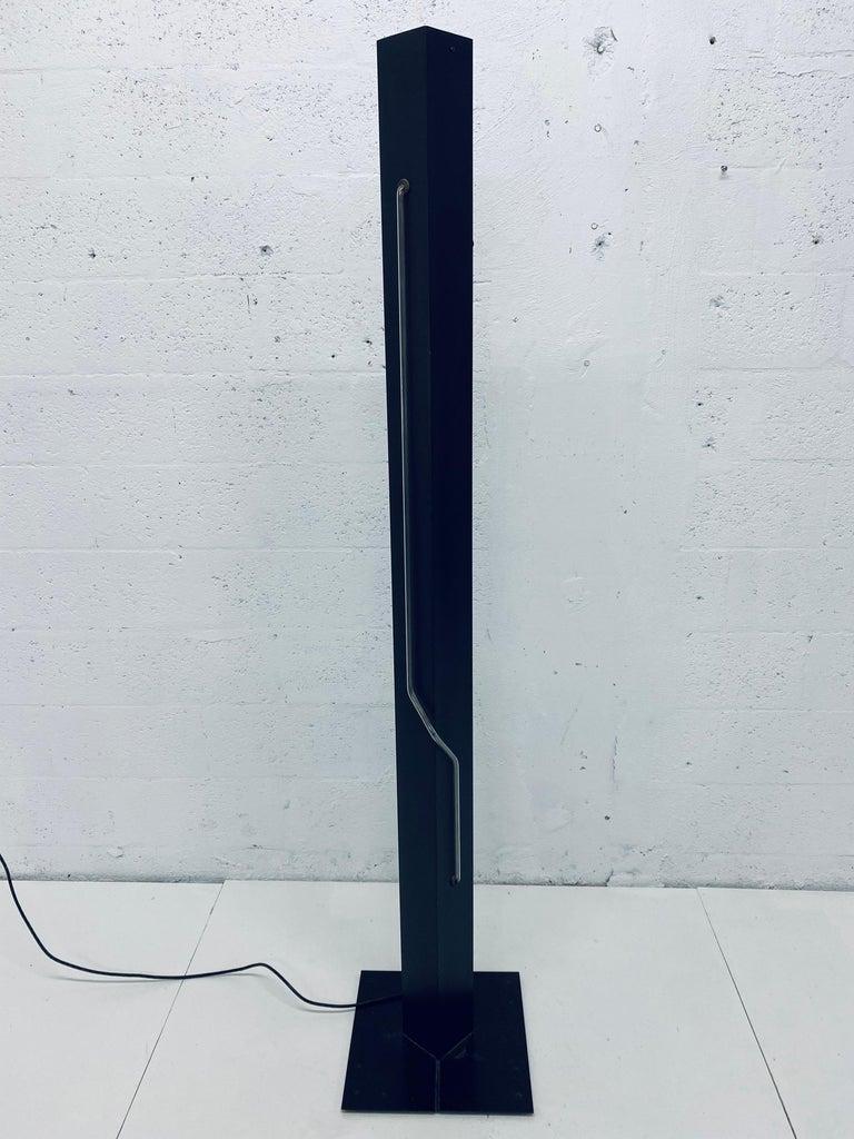 Rudi Stern Postmodern Red Neon Floor Lamp for George Kovacs, 1980s For Sale 3