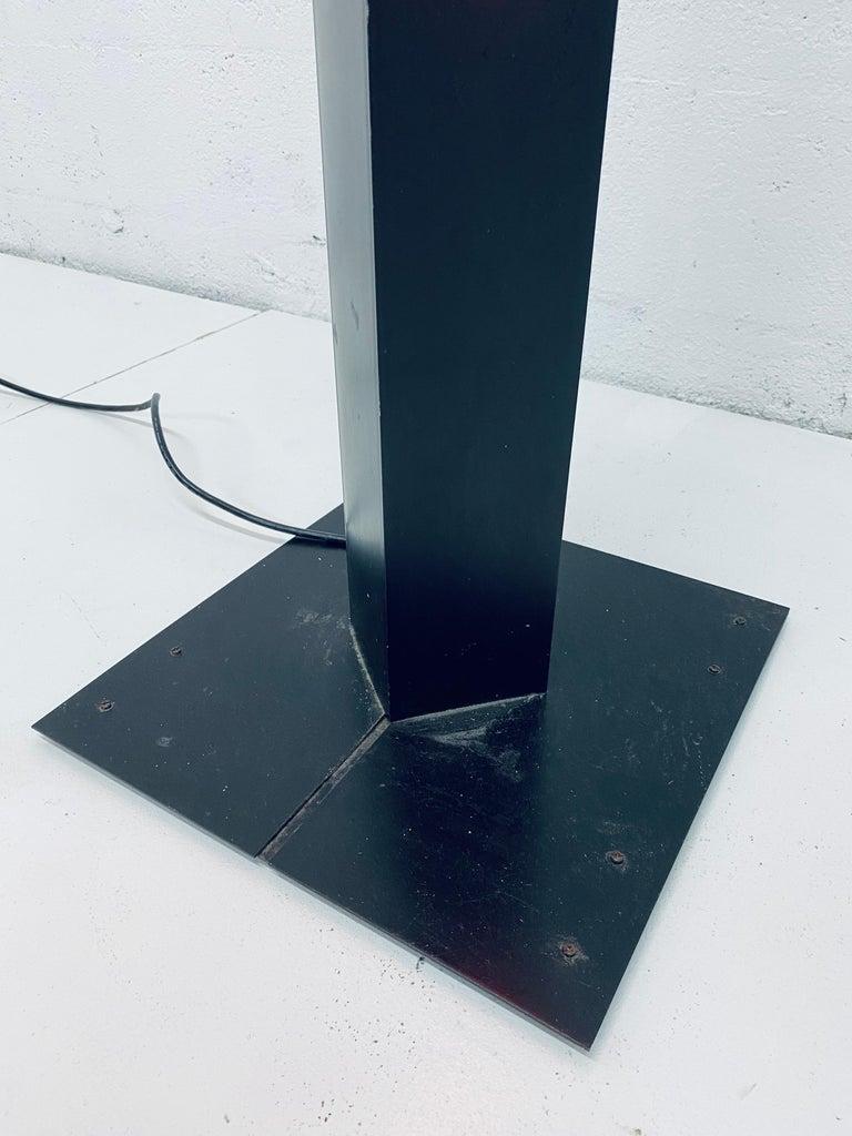 Rudi Stern Postmodern Red Neon Floor Lamp for George Kovacs, 1980s For Sale 4