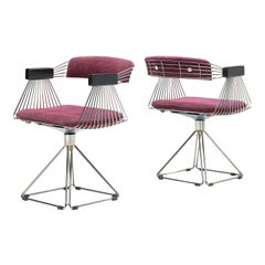 Rudi Verelst Chromed 'Delta' Armchairs