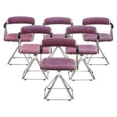 Rudi Verelst Six Chromed 'Delta' Chairs