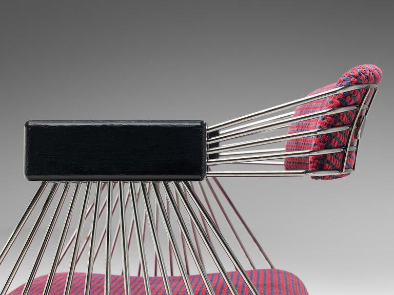 Rudi Verelst Twelve Chromed 'Delta' Chairs For Sale 3
