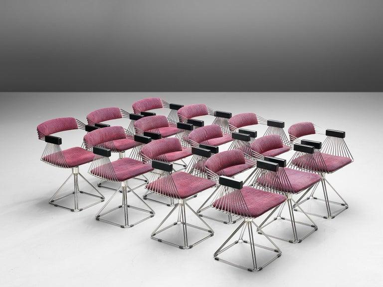 Mid-Century Modern Rudi Verelst Twelve Chromed 'Delta' Chairs For Sale