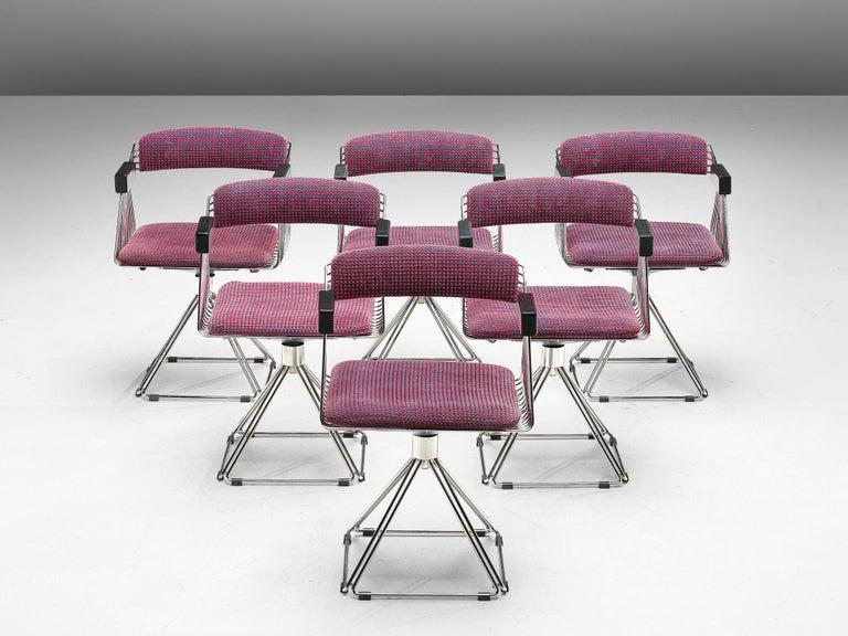 Belgian Rudi Verelst Twelve Chromed 'Delta' Chairs For Sale