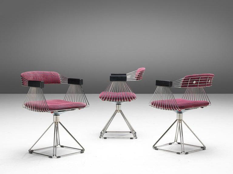 Rudi Verelst Twelve Chromed 'Delta' Chairs In Good Condition For Sale In Waalwijk, NL
