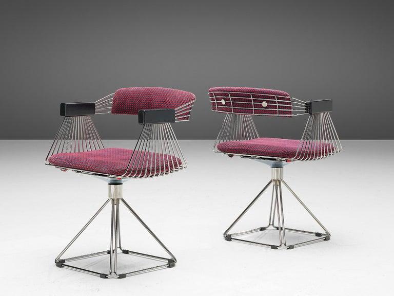 Wood Rudi Verelst Twelve Chromed 'Delta' Chairs For Sale