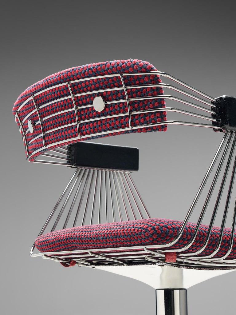 Rudi Verelst Twelve Chromed 'Delta' Chairs For Sale 1