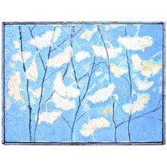 Rudolf Baranik 'Gingko Leaves In The Fall' Oil/Canvas