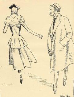 Woman Walking Away from Gentleman