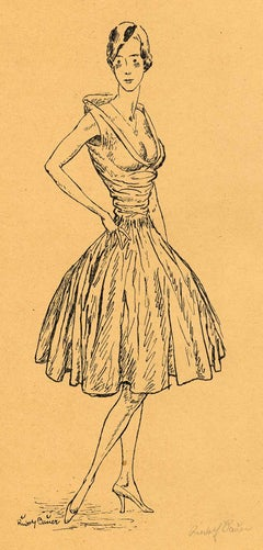 Woman with Hand on Hip (Posing with one leg tilted back)