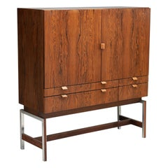 Rudolf Bernd Glatzel 'attr.' High Bar Cabinet for Fristho, The Netherlands 1960s