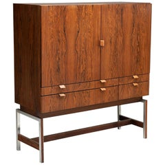Rudolf Bernd Glatzel 'Attr.' High Bar Cabinet for Fristho, the Netherlands 1960s