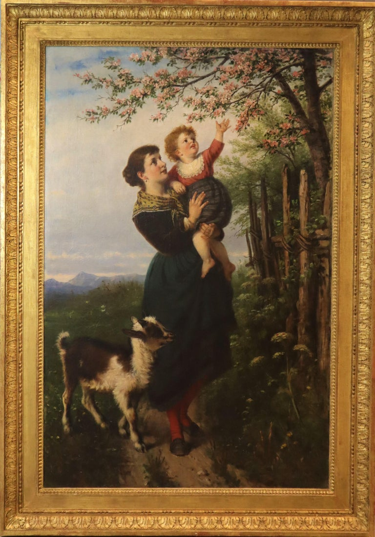 Rudolf Epp German 19 Century Oil on Canvas, Titled 'The Arrival of Spring' For Sale 3