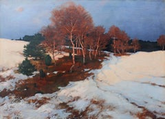 """""""Evening Glow"""" Landscape Oil Painting by Rudolf Hermanns"""