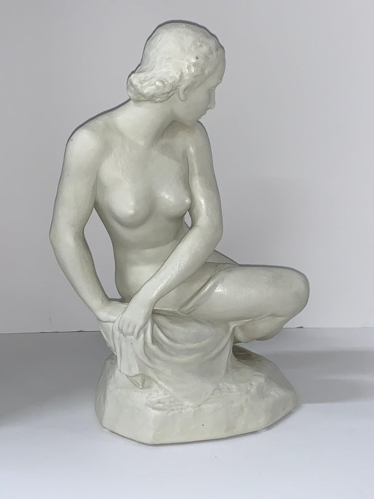 Hand-Crafted Rudolf Kaesbach Nude for Rosenthal For Sale