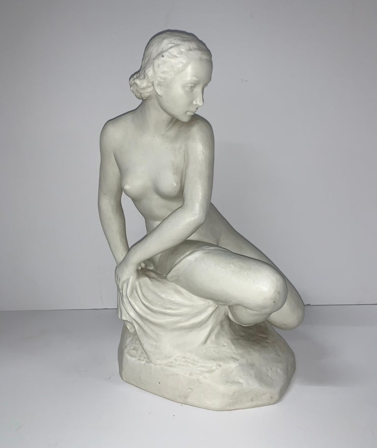 20th Century Rudolf Kaesbach Nude for Rosenthal For Sale