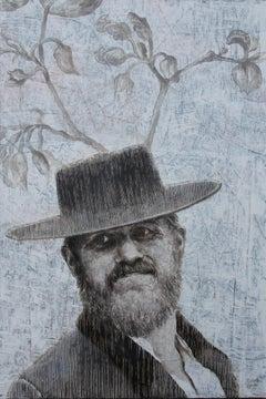 Cheerful Mr. L (oil painting monochrome vintage old man beard portrait nostalgia