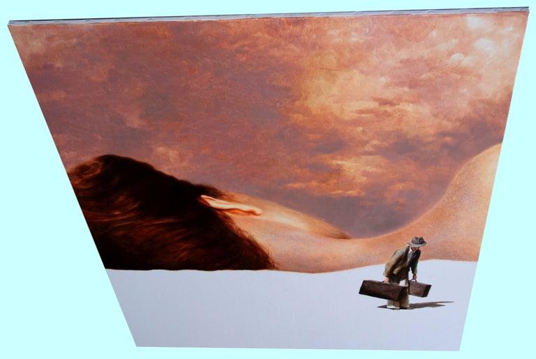 Discord (couple oil painting suitcase vintage nostalgia sleeping beauty skin) - Painting by Rudolf Kosow
