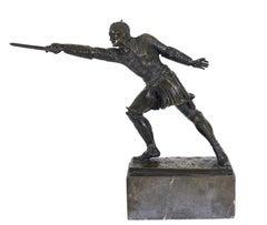 Rudolf Kuchler  Austrian Medieval Revival Bronze Knight Sculpture