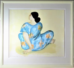 """""""Woman from Maui"""" Large original color serigraph."""