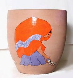 Shard Picker, Glazed Terra Cotta Pottery by R.C. Gorman