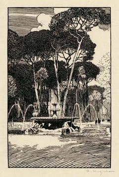 Fountain of Sea Horses, Rome — Early 20th Century